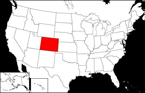 Colorado locator map