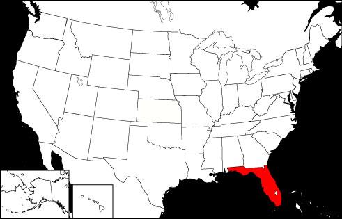 Florida locator map