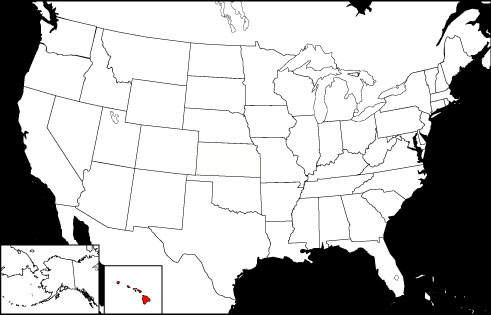 Hawaii locator map