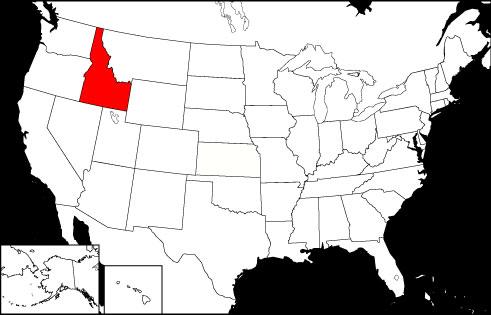 Idaho locator map