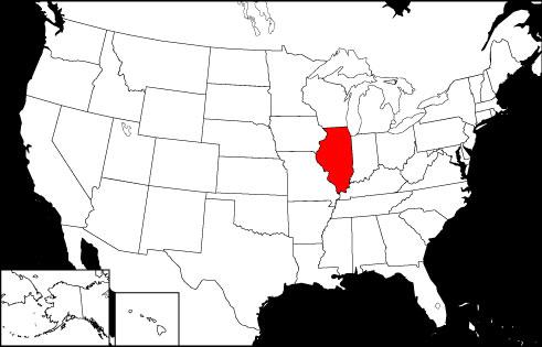 Illinois locator map