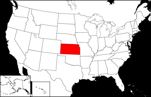 Kansas locator map