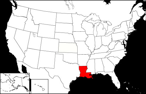 Louisiana locator map