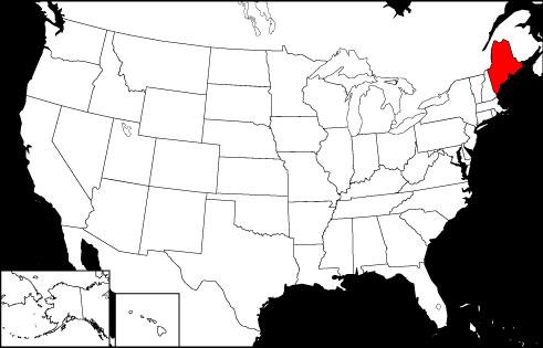 Maine locator map