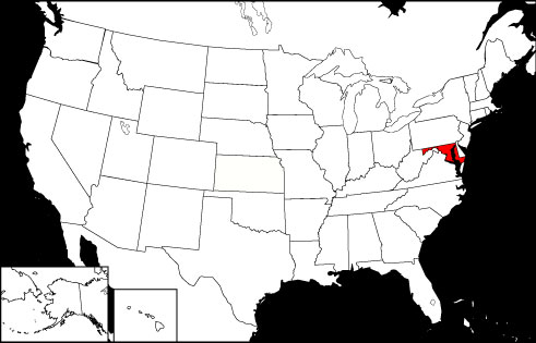 Maryland locator map