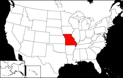 Missouri locator map