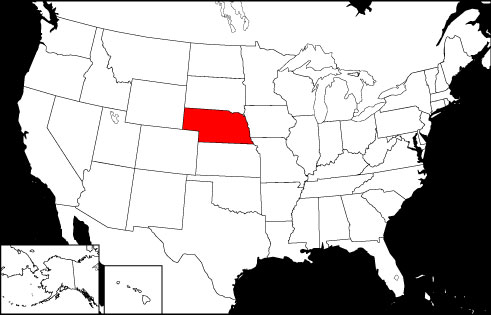 Nebraska locator map
