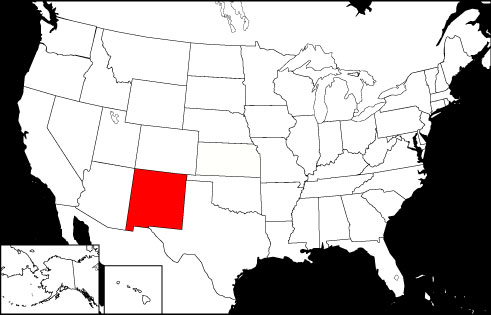 New Mexico locator map