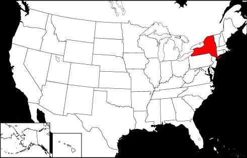 New York locator map