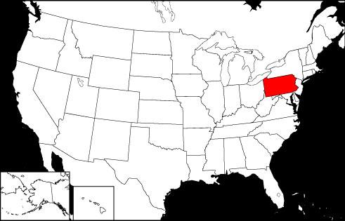 Pennsylvania locator map