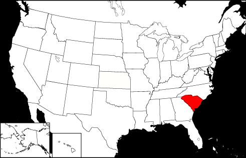 South Carolina locator map