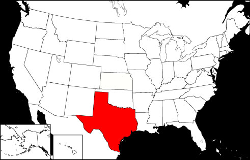 Texas locator map