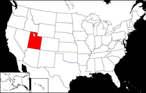 Utah locator map
