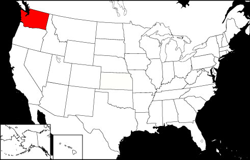 Washington locator map