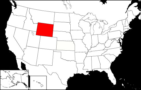 Wyoming locator map